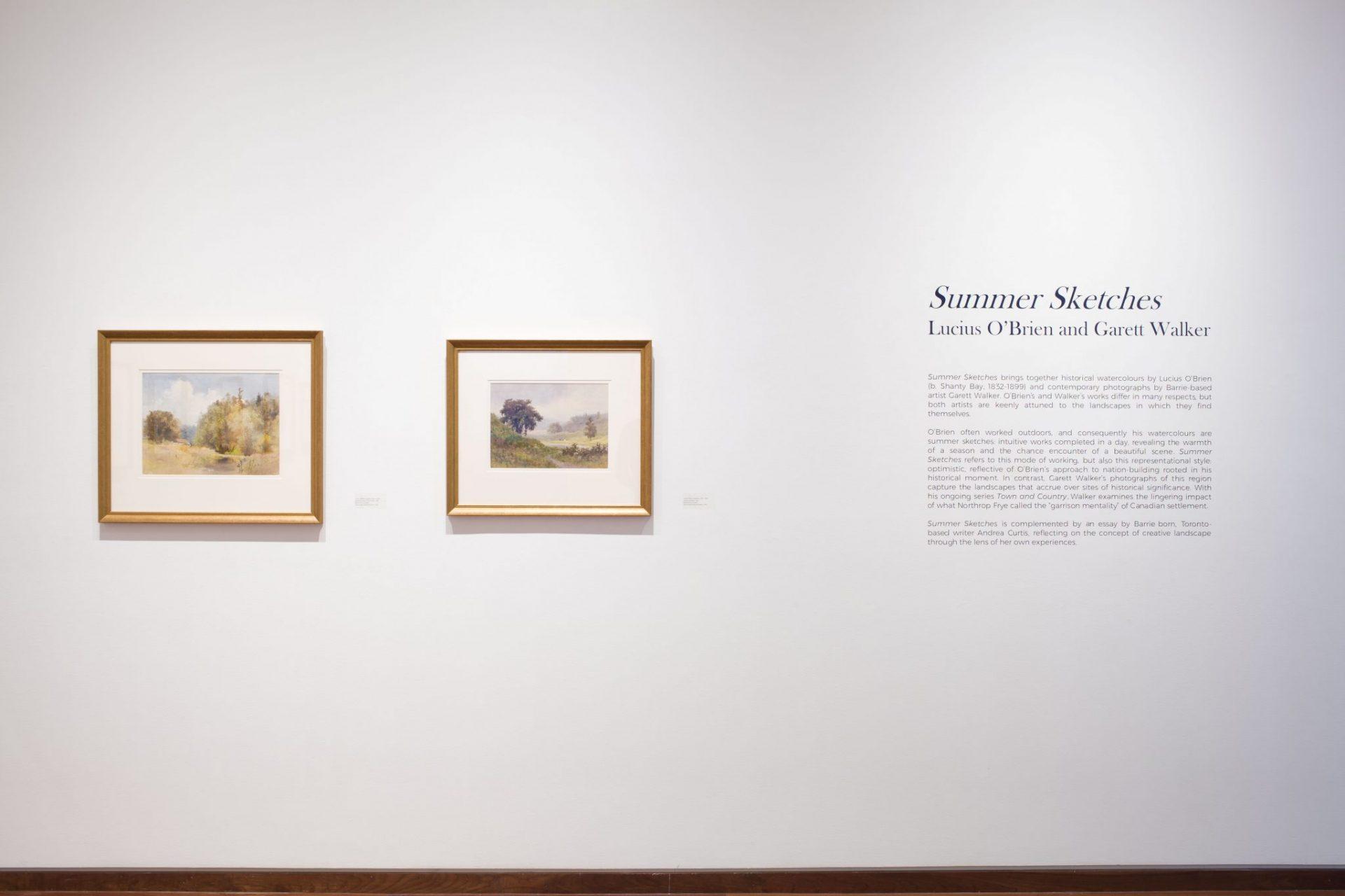 Summer Sketches: Lucius O\'Brien and Garett Walker - MacLaren Art Centre