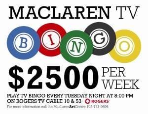 MacLaren TV Bingo