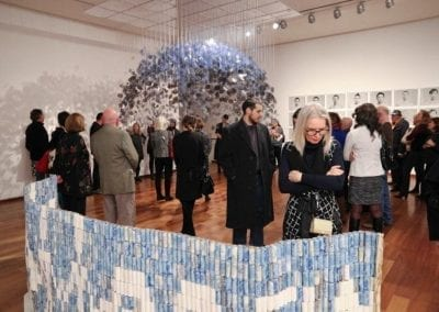 Opening reception for Reading the Talk, MacLaren Art Centre, 2015. Photo by Andre Beneteau