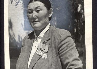 N. Kulshov, Surakan Kainazarova, leader of a team of sugar beet growrs of the Veroshilov Collective Farm, n.d., gelatin silver print.