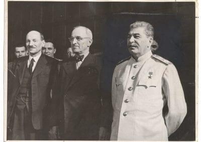 Samary Gurary, At the Berlin [Potsdam] Conference, 1945, gelatin silver print.