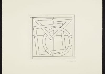 Margaret Priest, The Construction Series: The Monument to Construction Workers - Rough Carpentry, 1994, etching on paper, P.P. ed. of 7, 50.8 x 50.2 cm. Collection of the MacLaren Art Centre. Gift of Stu Oxley, 2000.