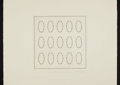Margaret Priest, The Construction Series: The Monument to Construction Workers - Welded Stainless Pipe Pieces, 1994, etching on paper, P.P. ed. of 7, 50.8 x 50.2 cm. Collection of the MacLaren Art Centre. Gift of Stu Oxley, 2000.
