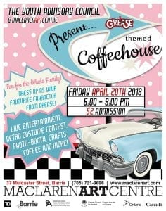 Grease-Themed Spring Coffeehouse