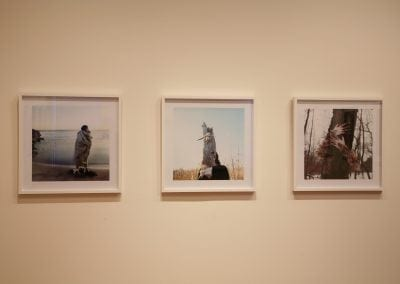 Meryl McMaster, In-Between Worlds, 2010, installation, Gallery 3, Photo: Andre Beneteau