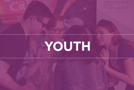 """Button linking to """"Youth"""" landing page"""