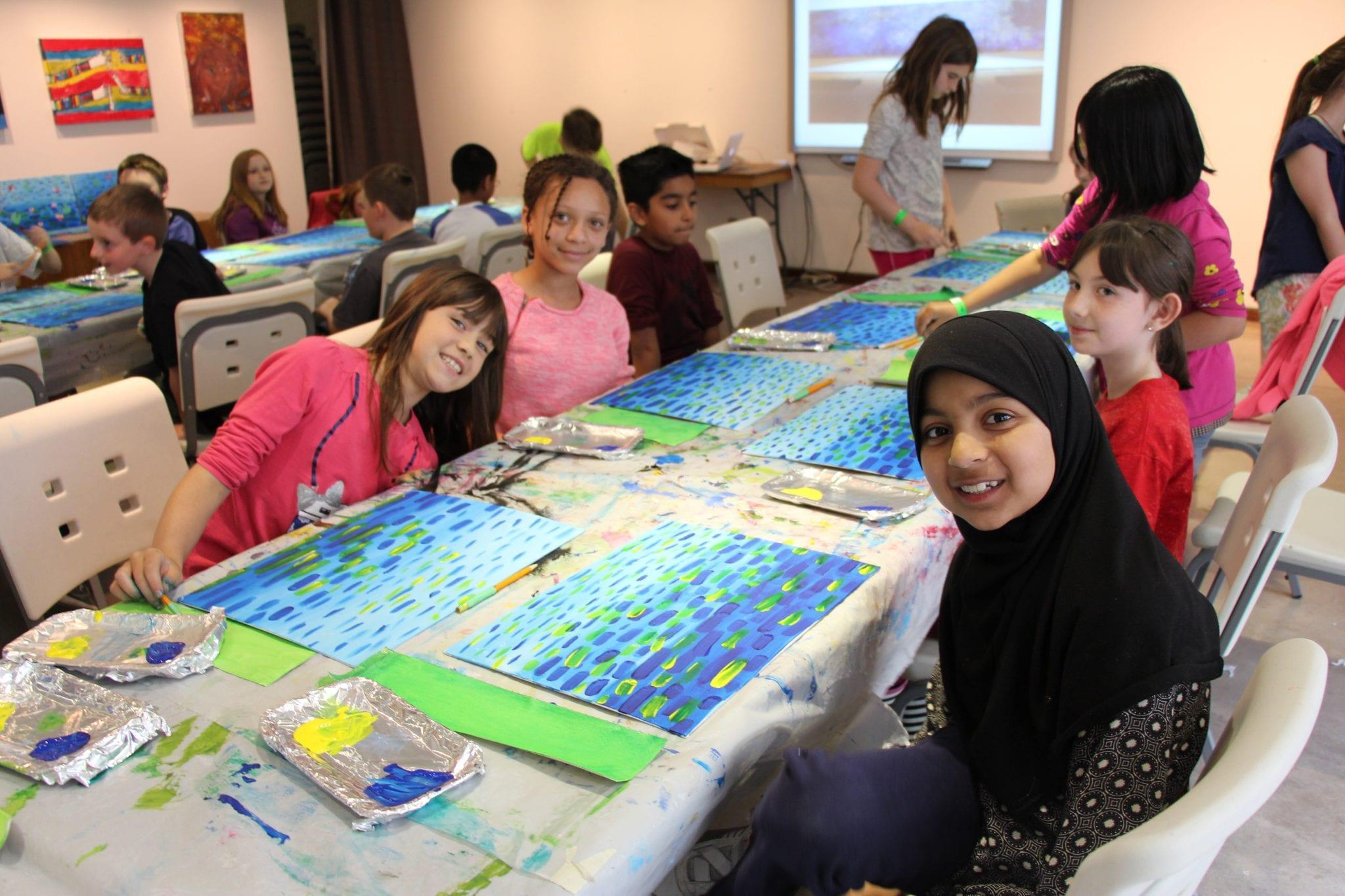 Children's art-making birthday party at the MacLaren Art Centre