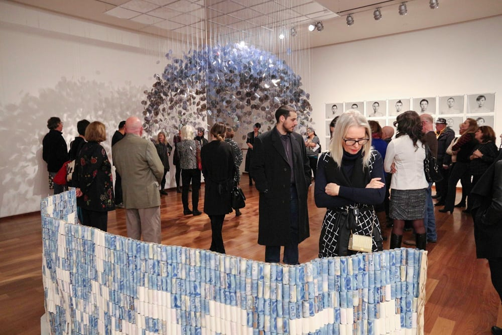 Group tour of exhibitions at the MacLaren Art Centre