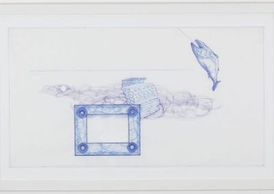 Patrick Mahon, Drawn Like Money #4, ink on paper, 50 x 66 cm. Collection of the MacLaren Art Centre. Gift of the Artist, 2017. Photo: Andre Beneteau
