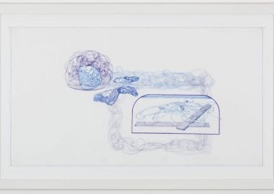 Patrick Mahon, Drawn Like Money #6, ink on paper, 50 x 66 cm. Collection of the MacLaren Art Centre. Gift of the Artist, 2017. Photo: Andre Beneteau