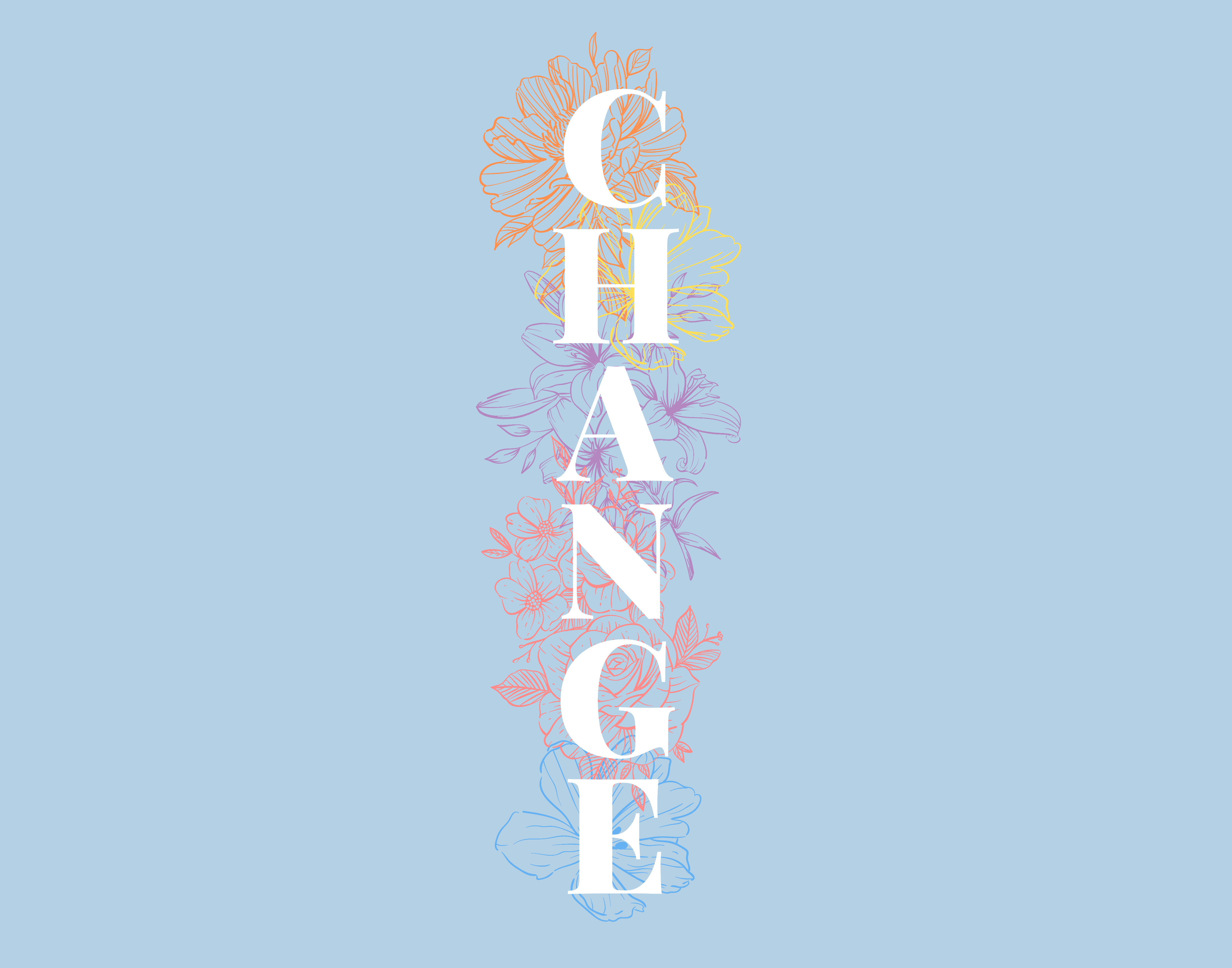 Poster artwork for the Change: Youth Social Media Project