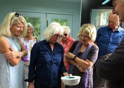 MacLaren Art Centre Patron Circle members on a private tour of Marlene Hilton Moore's studio