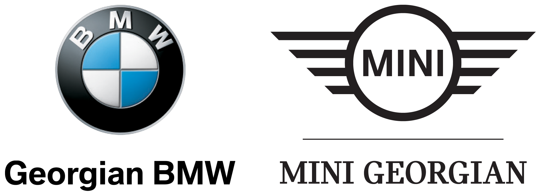 Georgian BMW and MINI Georgian logos