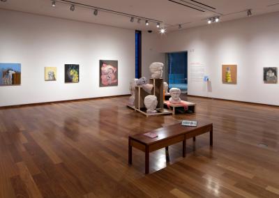 Jason Dunda: A Hall of Unflattering Portraits, installation view, MacLaren Art Centre, 2018. Photo: André Beneteau