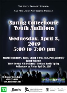 Spring Coffeehouse Youth Auditions