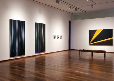 Installation view of The Clean Shape: Janet Jones, Rita Letendre, Doris McCarthy, MacLaren Art Centre, 2019. Photo: Andre Beneteau