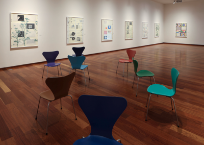 Installation view of Derek Sullivan: Bookworks, MacLaren Art Centre, 2019. Photo: Andre Beneteau