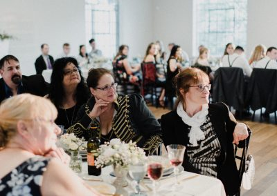 Wedding reception in the Carnegie Room at the MacLaren Art Centre