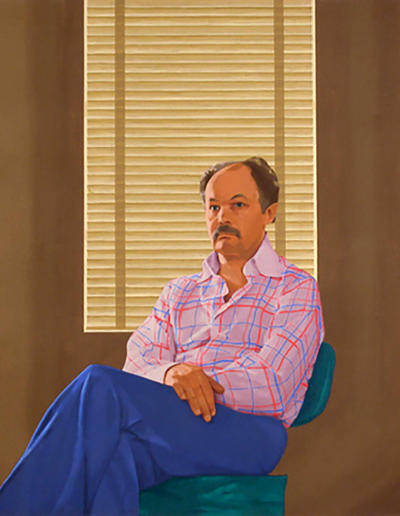 Janusz in Office, 1977 by artist Phil Richards