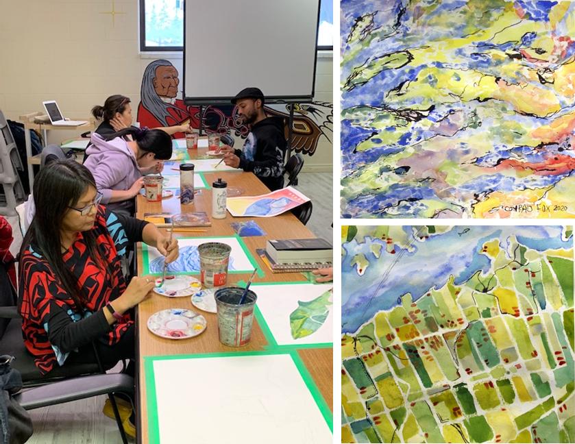 Barrie Native Friendship Centre members explore regional landscape in a MacLaren Art Centre VanGo Access workshop