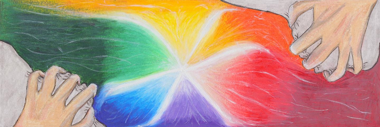 Artwork by Evelyn van Andel from Elmvale District High School