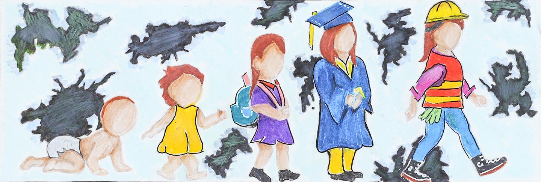 Artwork by Kayla MacDonald from St. Theresa's Catholic High School