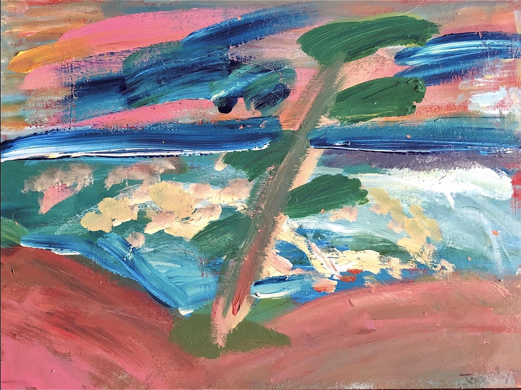 VanGo art class painting by MacLaren Art Centre volunteer Jocelyn Hay