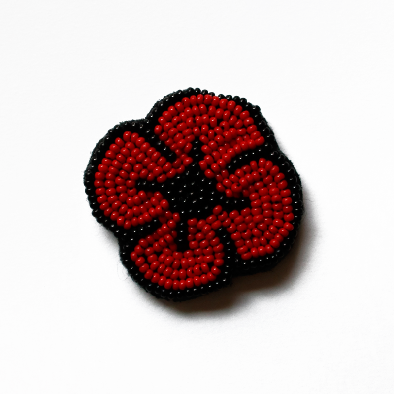 Beaded poppy brooch from the Gallery Shop