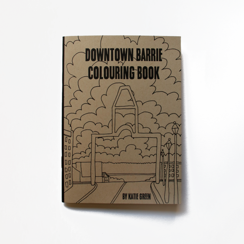Downtown Barrie Colouring Book from the Gallery Shop