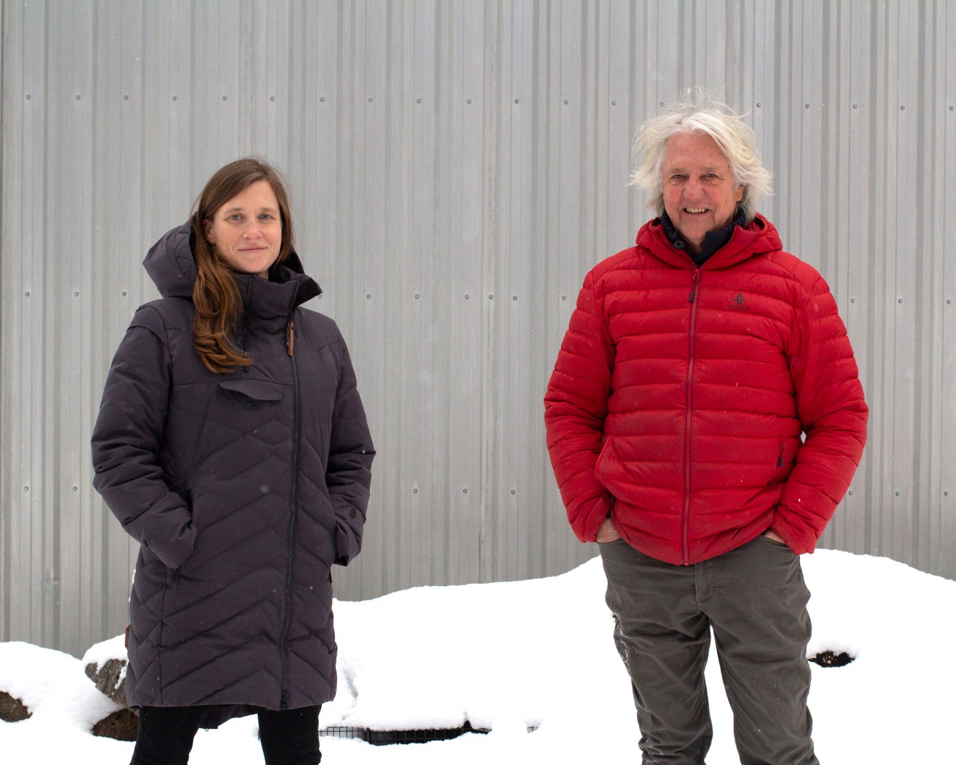Kate Schneider and John Hartman