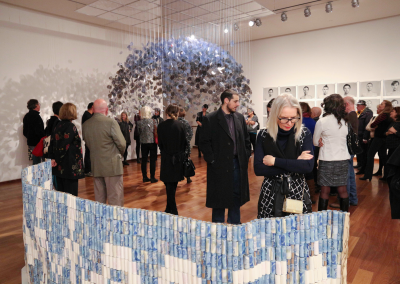 Exhibition opening reception at the MacLaren Art Centre