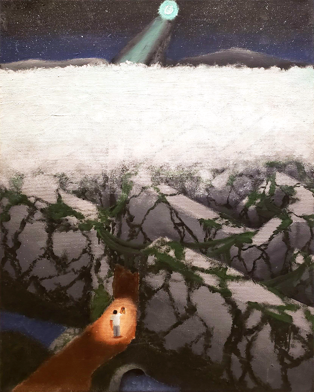 Mind Maze by Eduardo Dizon Jr., acrylic on canvas - Innisdale Secondary School