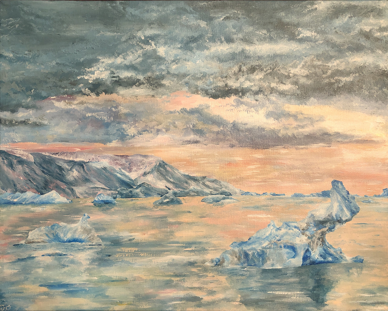 The Place Where the Ice Never Melts by Fifunmi Ogundipe, acrylic on canvas - Innisdale Secondary School
