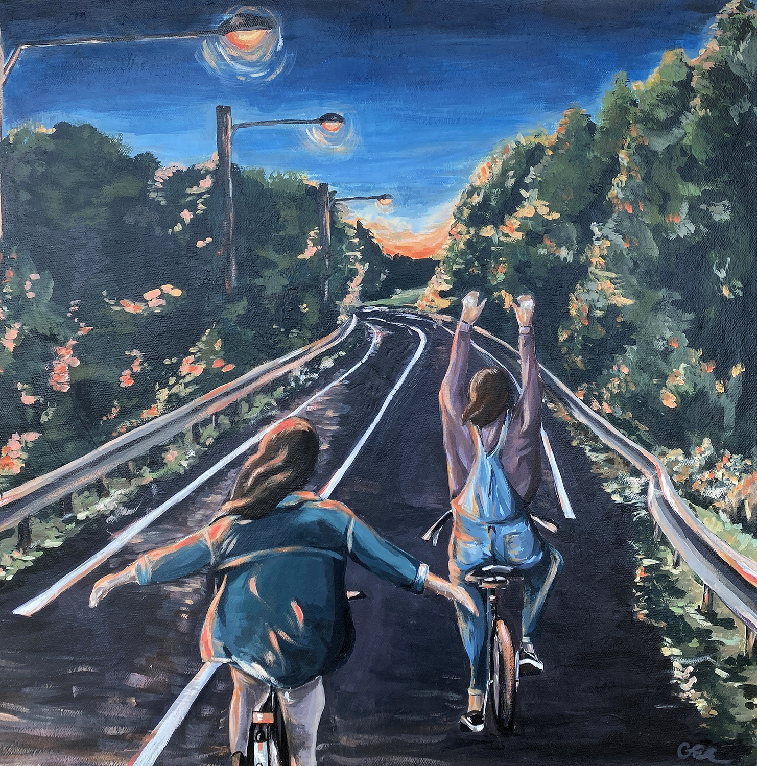 The Place we were Made by Gwen Elmhirst, acrylic on canvas - Banting Memorial High School