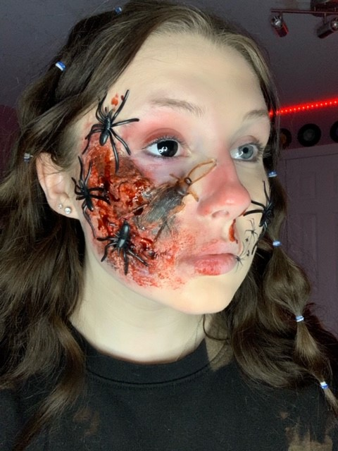 Looking Fear in the Eye: Entomophobia by Kalista Odegaard, mixed media - Innisdale Secondary School