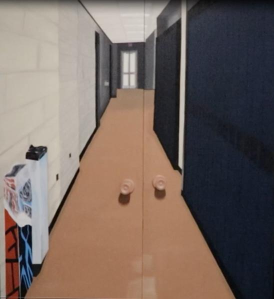 Behind My Closed Door by Lauren Bidmead, installation - Innisdale Secondary School