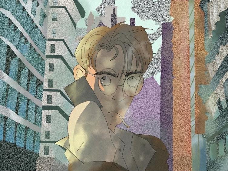 Frustration by Natasha Larmond, digital painting - Banting Memorial High School